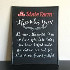 Pinterest Chalkboard by Customized Chalkboard Sign 16x20 For State Farm By Yescome On Etsy