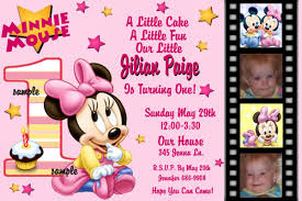 Christening And Birthday Invitation Card Printable Minnie Mouse Birthday Invitations Free
