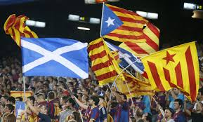 Scotland Flags Copa Del Rey Finals Barcelona Celebrates Overturn Of Ban On