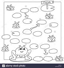 Game Template Frog Vector Coloring Book Pages Children