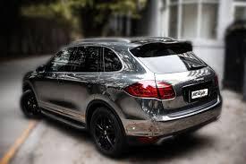 porsche chrome porsche cayenne turbo chrome restyle car wraps