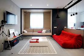 modern and stylish bedroom design with red theme for adults