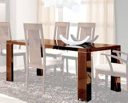 Walnut Dining Room Chairs Dining Table In High Gloss Walnut Finish 33d62