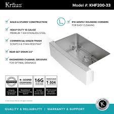 kraus farmhouse sink 33 stainless steel kitchen sinks kraususa com