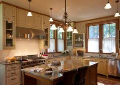 Cream Colored Kitchen Cabinets Two Different Countertops New Kitchen Ideas Pinterest