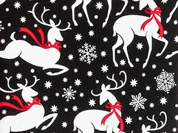 black and white christmas wrapping paper reindeer and snowflakes christmas gift wrap