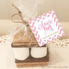 smores wedding favors 20 s mores favor tags pink s mores favor tags baby