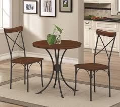 Round Bistro Table Coaster 100018 Jervis 3 Piece Bistro Set Of Table And 2 Chairs
