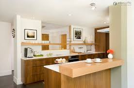 Small Kitchen Layouts Small Kitchen Idea For Apartment With Veneer Storage And White