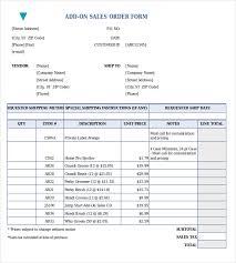 sales order form template excel work orders free work order form