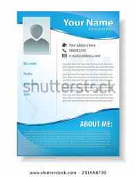Resume Template Design Multipurpose Modern Professional Certificate Template Design Stock