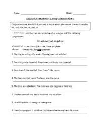 and or and but compound sentences worksheet capitalization