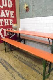 german beer garden table and bench vintage collapsible german beer hall table benches from three