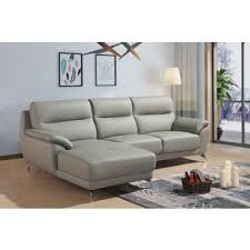 Modern Gray Leather Sofa Modern Contemporary Sofa Sets Sectional Sofas Leather Couches