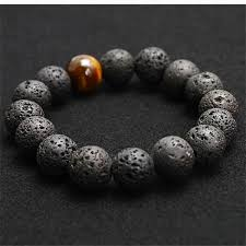 fashion stone bracelet images Volcanic lava stone bracelet tiger eye 10 mm beads men fashion jpg