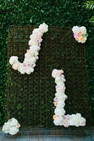 wedding backdrop initials backdrop with floral initials