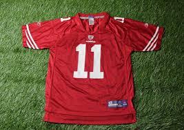 san francisco 49ers 11 smith nfl american football jersey shirt