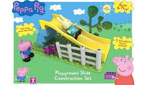 peppa pig construction slide playground kids george asda