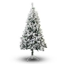 white tree snow flocked unlit artificial 4 231 pvc