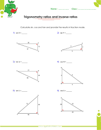 Inverse Functions Worksheet Answers Basics Trigonometry Problems And Answers Pdf For Grade 10