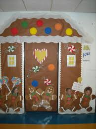 backyards gingerbread house classroom door cover made