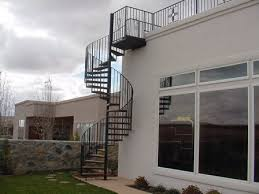 Spiral And Straight Project For Awesome Exterior Spiral Staircase