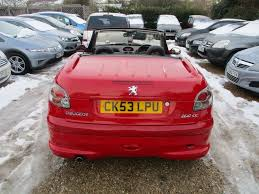 peugeot 206 convertible interior used peugeot 206 for sale rac cars