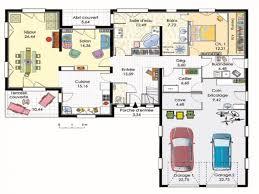 plan maison 4 chambres plain pied gratuit chambre plan maison plain pied 4 chambres inspiration plan de