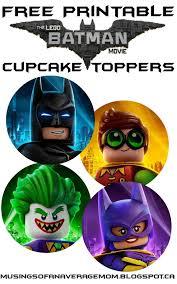 free printable lego batman cupcake toppers daniel bday theme
