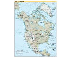 United States Map Longitude Latitude by Maps Of North America And North American Countries Political