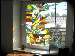 diy to make stained glass window film all about house design