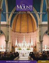 Kristine Brabson by Mount Magazine Fall 2015 By Mount Saint Joseph Academy Issuu