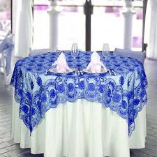silver lace table overlay 72 x 72 the fashionista style table overlay royal blue lace