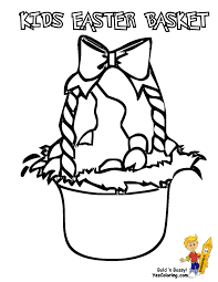 handsome easter basket coloring pages free easter baskets