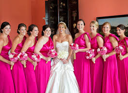 fuschia bridesmaid dress dazzling pink bridesmaid dresses weddceremony