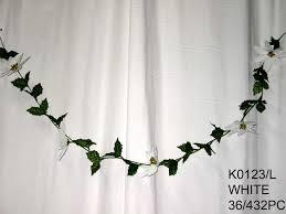 Wholesale Flowers Near Me Poinsettia Garland K0123 L Ksw Wholesale Silk Flowers