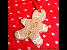 diy ornament fingerprint gingerbread salt dough