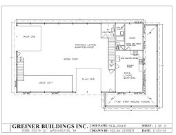 creative home plans nifty shop with living quarters floor plans l67 about remodel