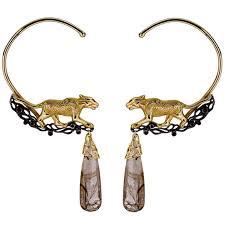 ear cuffs 18k gold panther ear cuffs kristen dorsey designs