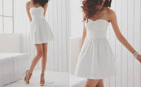 white strapless lace up backless lace dress dresses casual dress
