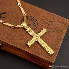 colored cross necklace images Wholesale gold color cross necklace for women men gift jesus jpg