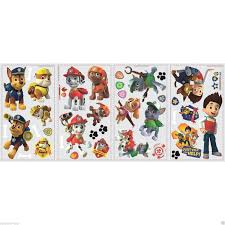 Marshall Home Decor Paw Patrol Figures Wall Decals Zuma Rocky Skye Chase Marshall