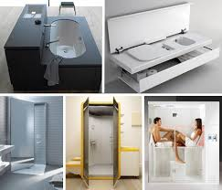 compact bathroom design small space design 15 fold up all in one bathrooms urbanist