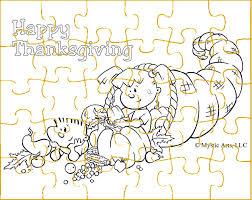 thanksgiving craft cornucopia puzzle black and white free printable jpg