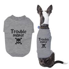 Cute Dog Products by Small Dog Trouble Maker Dog Shirt Pet Cloth Cute Puppies Clothe