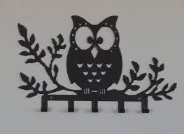 Owl Bedroom Decor Metal Owl Key Holder Owl Wall Hook Owl Decor Jewelry Hook Belt