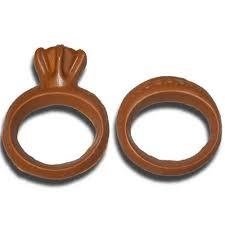 chocolate wedding rings wedding sweethearts angell and phelps chocolate factory