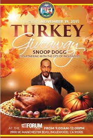 snoop dogg to out thanksgiving turkeys at the forum abc7