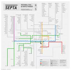 Philadelphia Subway Map Submission Unofficial Map Septa Regional Rail Transit Maps