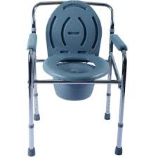 care u0026cure heavy duty foldable chrome plated medical commode chair